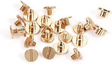 Schroefknoppen van messing, 10 sets 5/6,5/8 mm, massief messing, knop, bouten, schroefsluiting, voor riem, klinknagels, go...