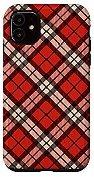 iPhone 11 Red Black & White Plaid Flannel Pattern AEN323 Case