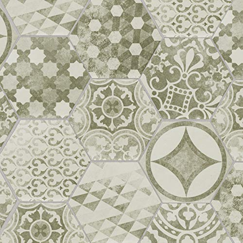 MS International Patternia Hexagon 7 in. x 8 in. Sample Encaustic Glazed Ceramic Wall Tile for Bathroom, Floor Tile, Kitchen Backsplash and Countertop Tile