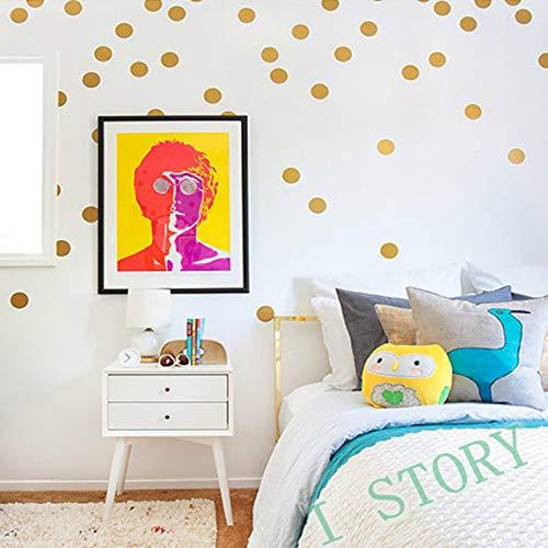 SeniorMar-UK Abnehmbare 54 Punkte Wandaufkleber Flur Dekor Kunst geeignet für Wohnzimmer