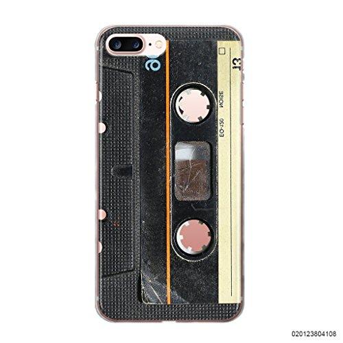blitzversand Handyhülle MC Kassette Tape Cassette kompatibel für iPhone 7/8 Music Cassette Schutz Hülle Case Bumper transparent M15