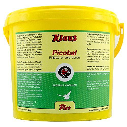 PICO - Picobal Brieftauben-Mineral - 5 kg - mit Korallalgen & Muschelschalen für eine optimale Mineralstoffversorgung