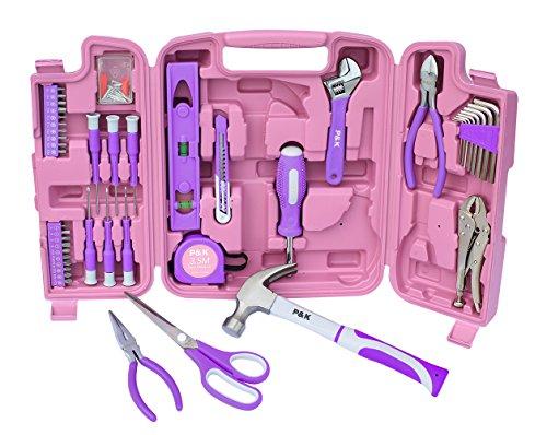75 Teiliges Werkzeugset in pink und lila top Geschenkideen