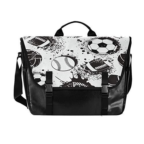 Bolsa de lona para cartero de tenis de fútbol, unisex, de 15,6 pulgadas, estilo retro, para negocios, bolso de hombro, bolso de mano