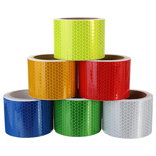 EsportsMJJ 3 m lange veiligheidswaarschuwing reflecterende tape waarschuwing tape sticker zelfklevende tape, Blauw, 1