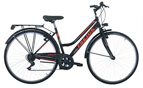Frejus Chelsea, Bicicletta da Città Donna, Nero/Arancione, 28 pollici, M