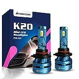 KOOMTOOM Mini LED 9005/HB3 Lámparas para faros Kits - CREE Ture Chips 360 ° Beam 8000LM Beam (2x4000LM) 55W (2x27.5W) 5000K - 1 año de garantía