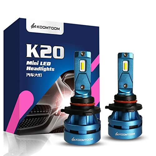 Koomtoom mini 9005 lampadine HB3lampadina LED kits- CREE chips Ture 360 ° fascio luminoso 8000LM (2 x 4000LM) 55 W (2 x 27.5 W) 5000 K – anno di garanzia …