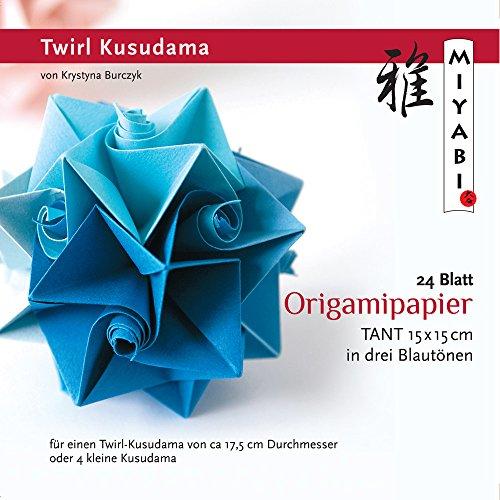 Origami-Papier, KB-TK-10 Origami Twirl Kusudama Miyabi-Collection