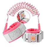 Lehoo Castle Upgraded Anti Lost Wrist Link, Kid Harness with Induction Lock, Safety Wrist Leash for Toddlers, Kids Backpack Leash, Child Leash Harness (Pink)