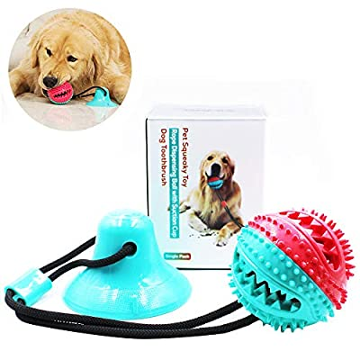 Amazon - Save 60%: FateFan Suction Cup Tug Dog Toy, Dog Self-Playing Tug of War Pet Molar Bite…