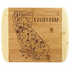 Savor a slice of the Golden State with this beautiful bamboo serving and cutting board with artwork inspired by the cities, places and people of California Fun, whimsical artwork features many of the wonderful sights and places in the state from San ...