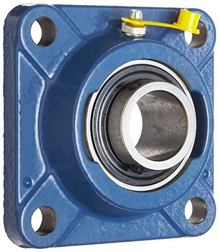SKF F4B 108-RM Ball Bearing Flange Unit, 4 Bolts, Set Screw Locking, Regreasable, Contact Seal, Cast Iron, 1-1/2' Bore, 4' Bolt Hole Spacing, 6900lbf Dynamic Load Capacity