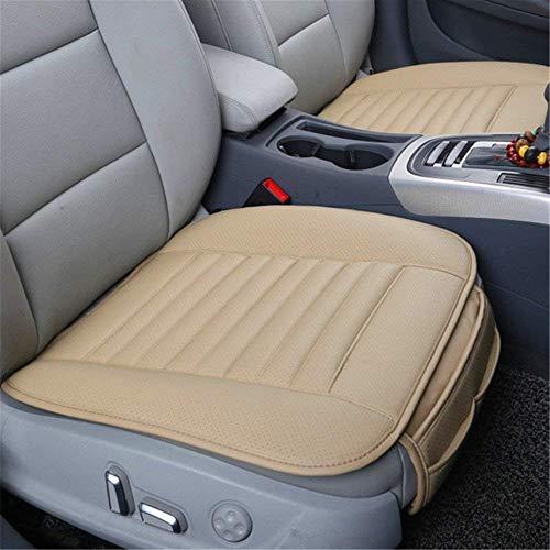 Big Ant Sitzauflagen Auto Sitzbezüge Auto Sitzkissen Auto Vordersitz Autoauflage Autositzbezug mit PU Leder schutzt vor Schmutz Schweiß(2 Stück,Beige)
