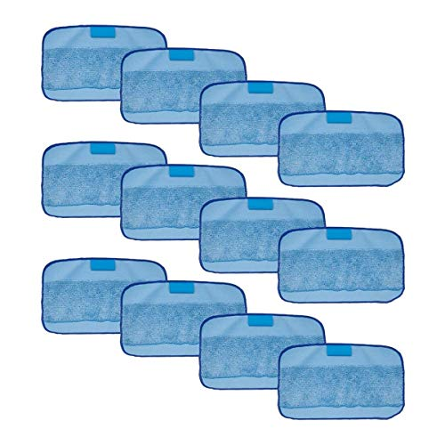 XIAOFANG 12-Packs Humide Chiffons Fit for Braava, Remplacement Lavable Pro Fit Mopping Chiffons for iRobot Braava 380t 320 Mint 4200 5200 (Color : Blue)