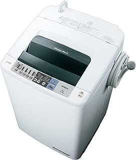 日立 全自動洗濯機 洗濯容量8kg 本体幅57cm シャワー浸透洗浄 お湯取機能 ホワイト NW-80B W