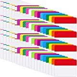 1600 Pezzi Index Tab Etichette Autoadesive, Etichette Adesive Riposizionabili per Pagine o Marcatori di Libri, Note di Lettura, Classificazione di File, 80 Set 20 Colori Schede (2 Pollici, 1600 Pezzi)