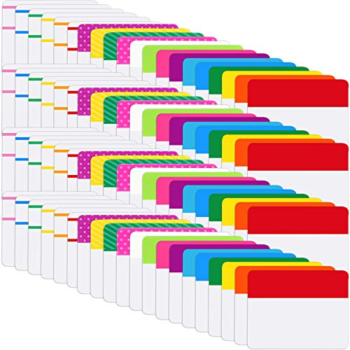 1600 Pieces Sticky Index Tabs File Folder Tabs, Writable and Repositionable File Tabs Flags for Pages or Book Markers, Reading Notes, Classify Files, 80 Sets 20 Colors Tabs (2 Inch, 1600 Pieces)