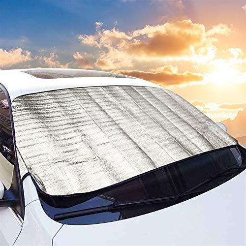 wasserdichte Staubschutzhülle Auto-Spielraum Außenabdeckungen Frontschild Windschutzscheibe Abdeckung Baumwolle Folie Außenliegender Sonnenschutz 70cm x 192cm (Color : Silver)