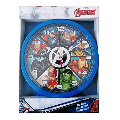 Marvel wanduhr Avengers Jungen 25 cm blau/Weiss