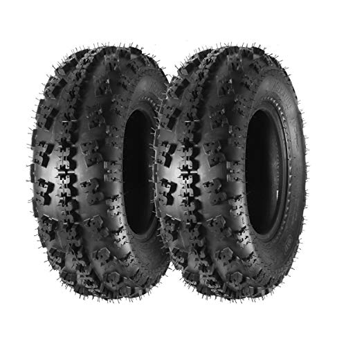 MaxAuto Set of 2 21X7-10 21x7x10 Sport ATV Tires 4PR Tubeless