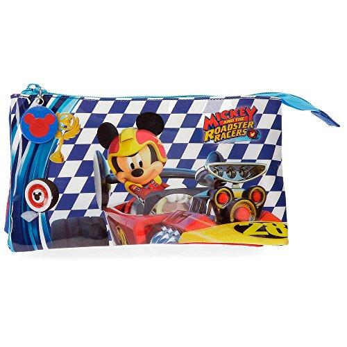 Disney- Portatodo 3 Compartimentos Mickey Race