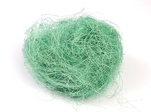 NaDeco Flachshaar türkis 500g Sisal Haar Feenhaar Sisalwatte Pflanzenfaser Sisal Wolle Jutegras ideal für Gestecke, Sträuße und floristische Arbeiten