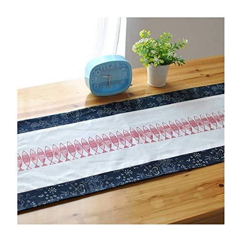 CUIZC Camino de mesa con estampado de orquídeas vientos, costuras de lino, mantel para cama, bandera, antideslizante y repele la suciedad, 30 x 220 cm