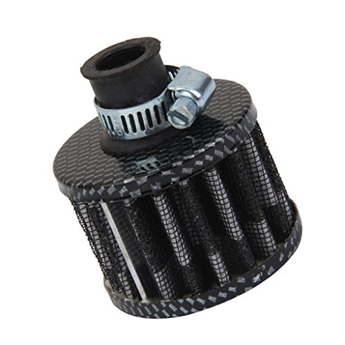 MagiDeal - Filtro de aire, 12mm, motor, coche turbo, ventilación, tapa de respiración cárter, gris y negro