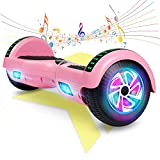 FLYING-ANT Hoverboard, Hoverboard with Bluetooth and LED Lights Self Balancing Electric Scooter 6.5' Two-Wheel Hoverboards for Kids and Teenagers