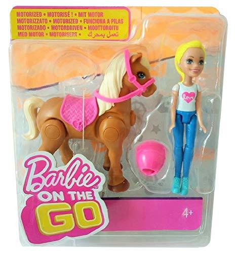 Barbie Mattel on The go Puppen und Pferd (Hellbraunes Pferd)