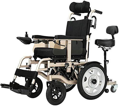 QBYLYF Metallic Rollator Diamond Deluxe Elektro-Rollstuhl Ältere Behinderte Auto Älteren Intelligentes Automatisches Bewegliches Scooter Multifunktionsfalten Im Flugzeug (Color : Lithium battery15ah)