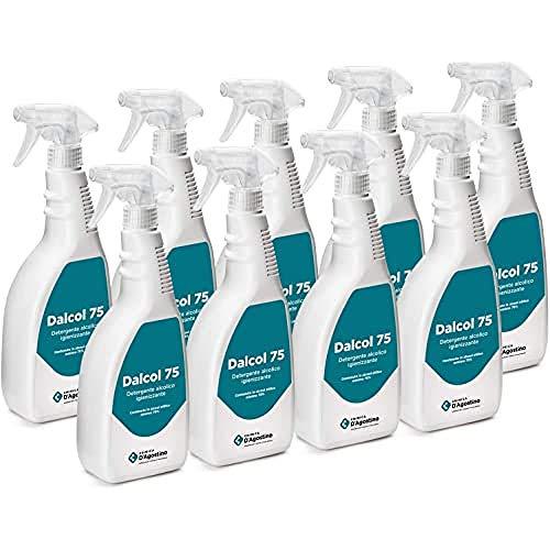 Chimica D'Agostino Dalcol 75 Detergente Alcolico Igienizzante Profumato, 750 Ml Spray, Contenuto In...