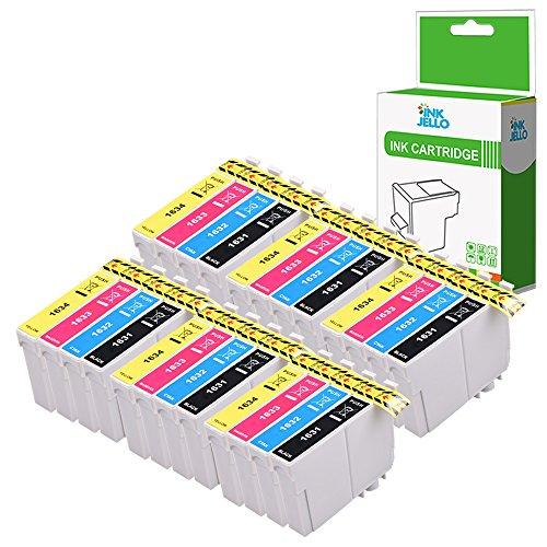 InkJello Compatibile Inchiostro Cartuccia Sostituzione per Epson WorkForce WF-2010W WF-2510WF WF-2520NF WF-2530WF WF-2540WF WF-2630WF WF-2650DWF WF-2660DWF WF-2750DWF WF-2760DWF 16XL (B/C/M/Y 24-Pack)