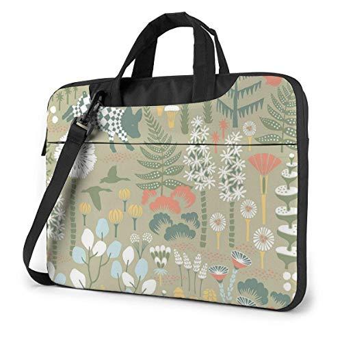 Laptop Shoulder Bag 13 Inch, Animals and Plants Briefcase Protective Bag