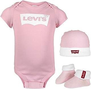 Levi's Kids Classic Batwing Infant Hat, Bodysuit, Bootie Set 3 szt. 0019 zestaw wyposażenia dla niemowląt i małych dzieci...