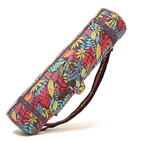 GEZICHTA Yogamatten-Tasche, Durchgehender Reißverschluss, Yogamatte, Tragetasche mit multifunktionalen Aufbewahrungstaschen, rot, Free Size