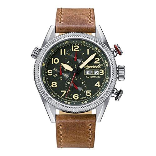 Ingersoll Herren Analog Automatik Uhr mit Leder Armband IN1102GR