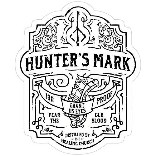 Sticker Vinyl Decal for Cars, Water Bottle, Fridge, Laptops Hunter's Mark Whiskey - Bloodborne Stickers (3 Pcs/Pack)