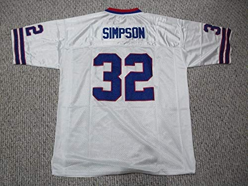 Unsigned O.J. Simpson #32 Buffalo Custom Stitched White Football Jersey Various Sizes New No Brands/Logos (L)