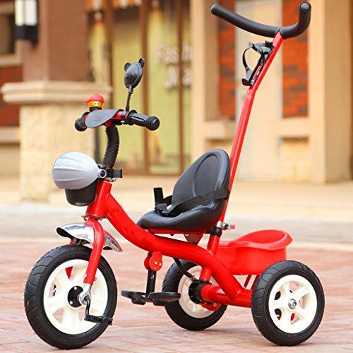 Hochwertiger Kinderwagen 18 Monate bis 5 Jahre alt große Lagerung Sitz verstellbare Kinder Dreirad, abnehmbare Höhe verstellbar Boy Girl Pedal Trike Fahrrad, Mode High Carbon Stahl Material Baby Troll