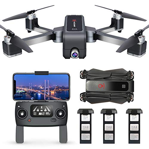 YOLL RC Quadrocopter Faltdrohne,GPS Drohne mit 4k HD Kamera,5G WiFi FPV Live Übertragung,250M Reichweite,120 ��Weitwinkel,Follow-Me,App-Steuerung,25Minuten Flugzeit,ür Anfänger/C