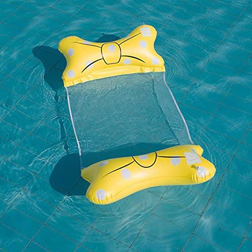 Boias de piscina, travesseiro inflável de laço para adultos, rede de água dobrável, boias de piscina de malha macia de 100 kg, tamanho adulto para praia, festa na piscina, piscina, parque aquático, 145 x 70 cm