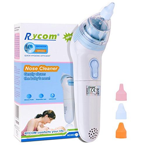 Nasensauger Baby Elektrischer Nasensauger Lebensmittelqualität Weiches Silikon Waschbar Wiederverwendbar Schnelles Entfernen des Babyschleims Tragbarer Nasensauger Für Neugeborene & Kleinkinder