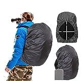 Joy Walker Mochila impermeable transpirable adecuada para senderismo, camping, viajes (negro, pequeño (para mochila de 15 – 25 L)