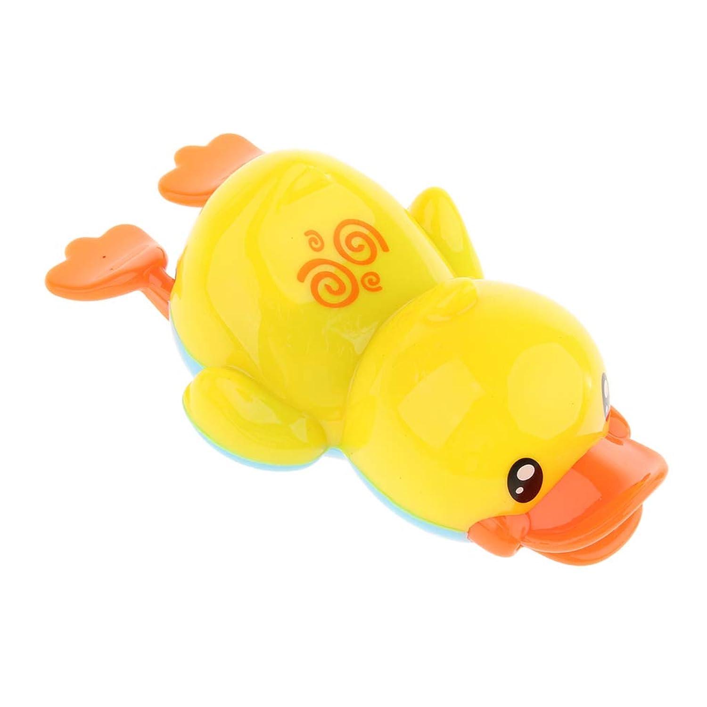 P Prettyia 泳ぐ黄色アヒル おもちゃ プラスチック製 お風呂おもちゃ バスおもちゃ 時計仕掛け