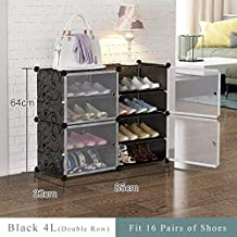 XDDDX Simple Multilayer Modular Shoe Cabinet Easy Assembly Boots Shoes Storage Organizer Home Space Saving Closet Plastic ...