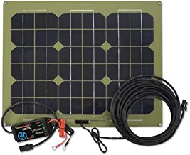 PulseTech 12V/25W Solar Charger Maintainer, Multicolor