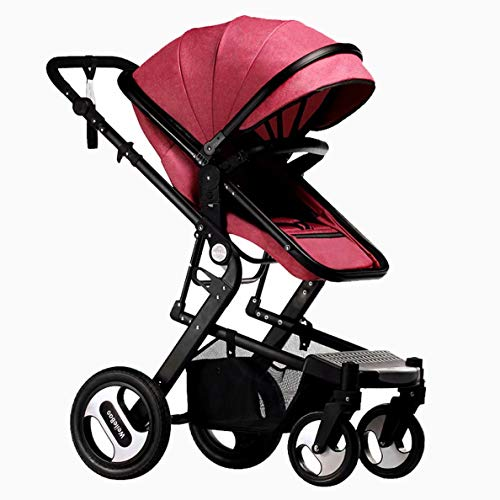 Review Of Pushchair,Two-Way Push Baby Stroller Can Sit Reclining Four-Wheel Shock Absorber Foldable,...