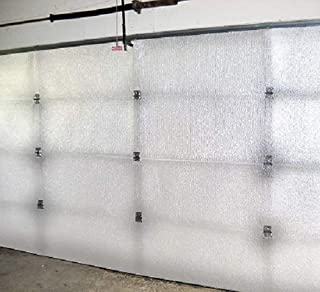 US Energy Products White Reflective Foam Core 1 Car Single Garage Door Insulation Kit 9FT (WIDE) x 8FT (HIGH) R Value 7.5 Made in USA New and Improved Heavy Duty Double Sided Tape (ALSO FITS 9X7)